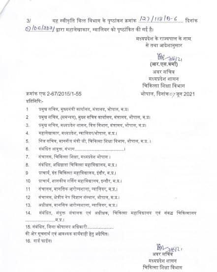 MP: शासकीय मेडिकल कॉलेजों में डॉक्टरों के मासिक स्टायपेंड में वृद्धि, आदेश जारी