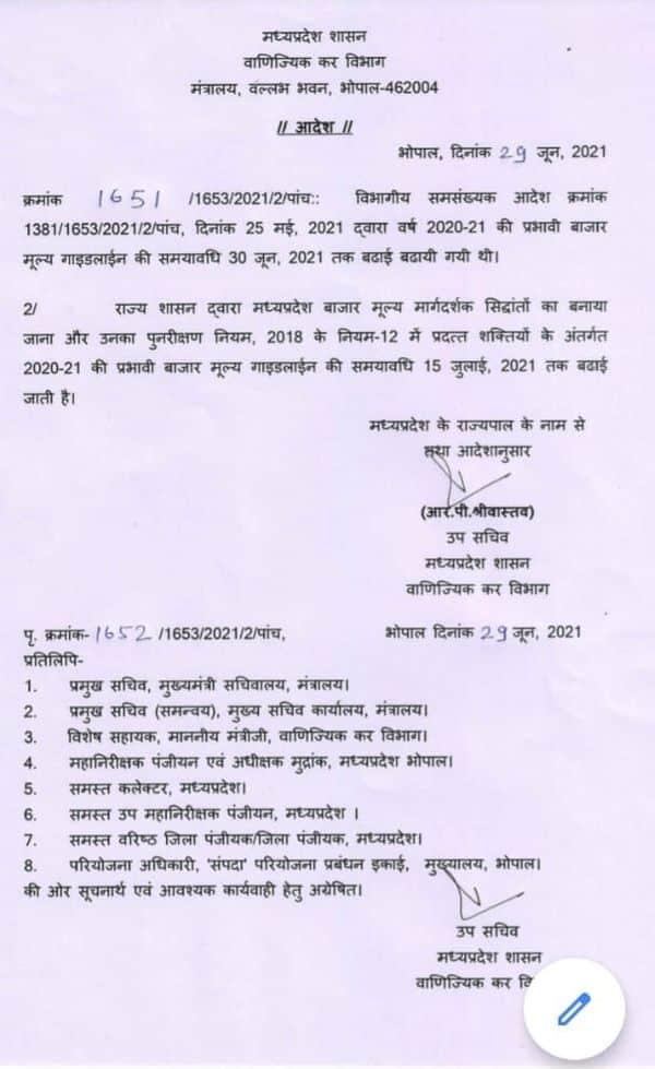 मध्य प्रदेश सरकार ने प्रॉपर्टी रजिस्ट्री फीस में दी बड़ी राहत, विभाग ने जारी किया आदेश