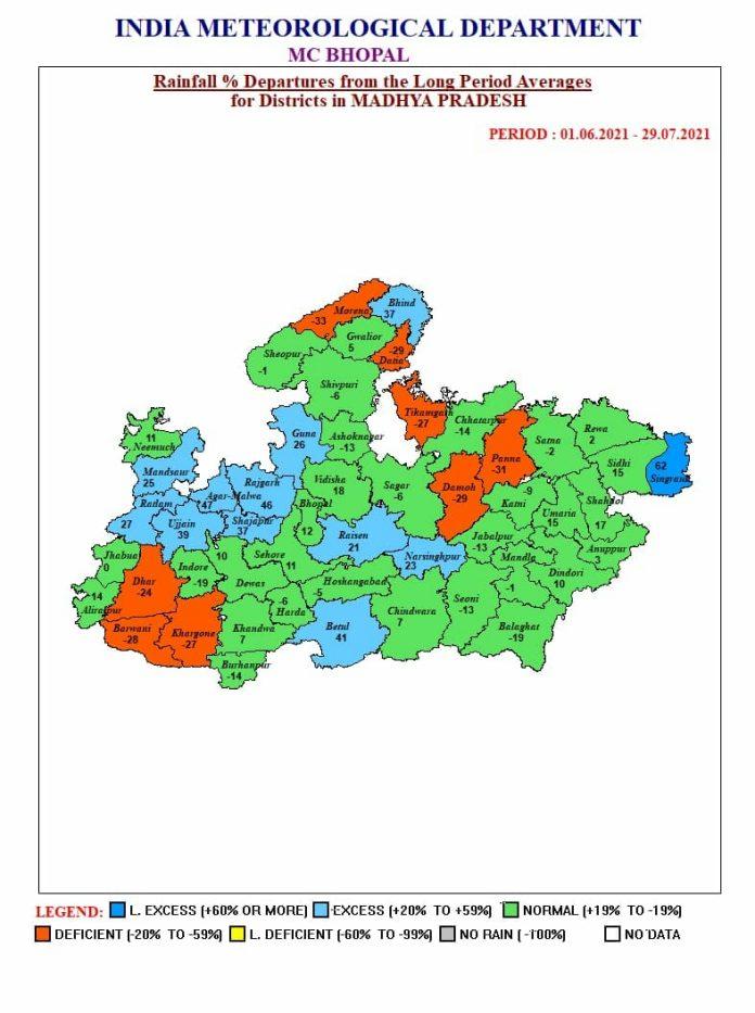 MP Weather Alert: मप्र के 15 जिलों में भारी बारिश की चेतावनी, ऑरेंज अलर्ट जारी