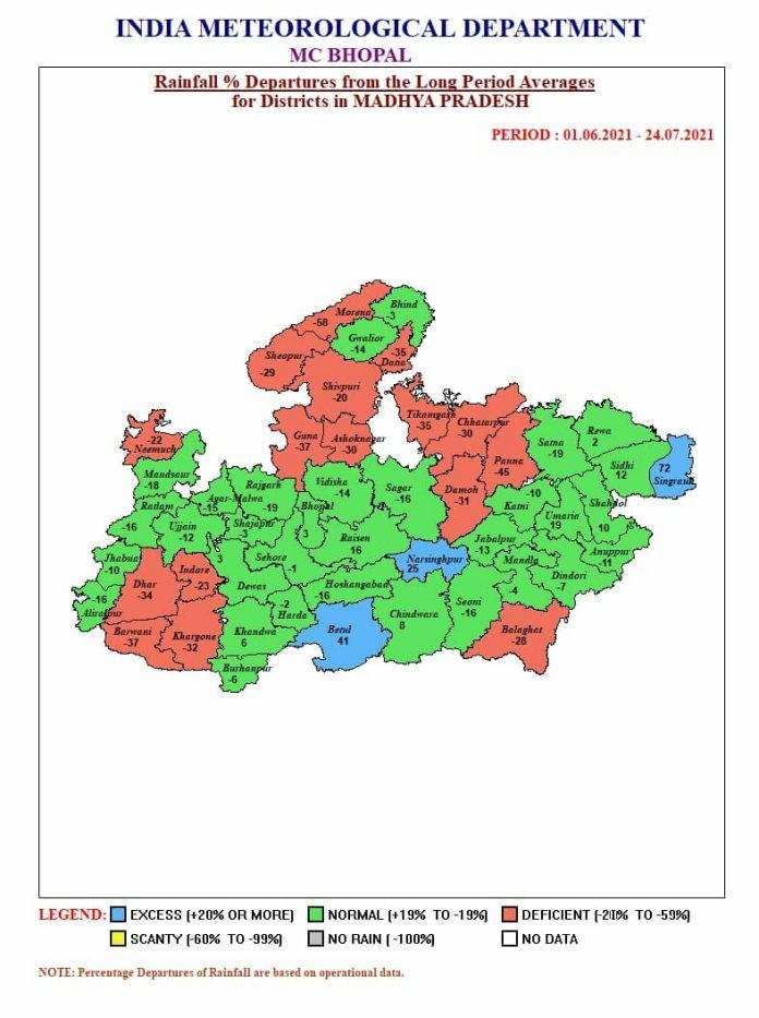 MP Weather Alert: मप्र में जारी रहेगा मूसलाधार का दौर, इन 24 जिलों में भारी बारिश का अलर्ट