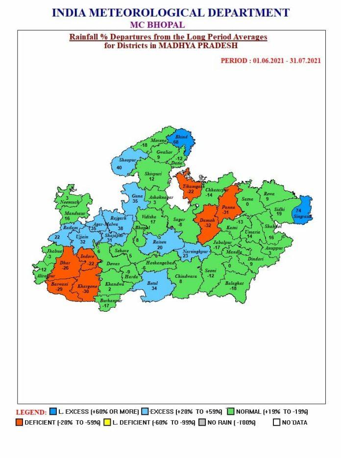 MP Weather: मप्र के 22 जिलों में भारी बारिश की चेतावनी, एक साथ रेड-ऑरेंज अलर्ट जारी