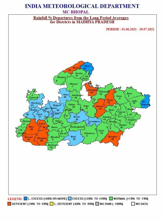 MP Weather Alert: 4 सिस्टम एक्टिव, मप्र के 24 जिलों में भारी बारिश का अलर्ट जारी