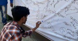 पेट्रोलियम पदार्थों की बढ़ती कीमतों के विरोध में युवा कांग्रेस ने चलाया हस्ताक्षर अभियान