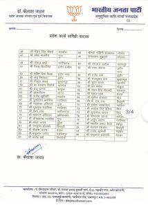MP BJP ने की प्रदेश पदाधिकारियों और सदस्यों की घोषणा, यहां देखें लिस्ट