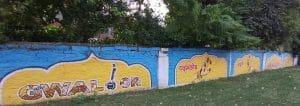 """Gwalior News : शहर को खूबसूरत बनाने में महत्वपूर्ण भूमिका निभा रही है """"वॉल आर्ट"""""""