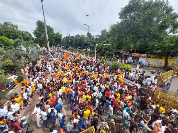 Ujjain News: विरोध जारी, बजरंग दल-VHP का उग्र प्रदर्शन, पाकिस्तान मुर्दाबाद के लगाए नारे