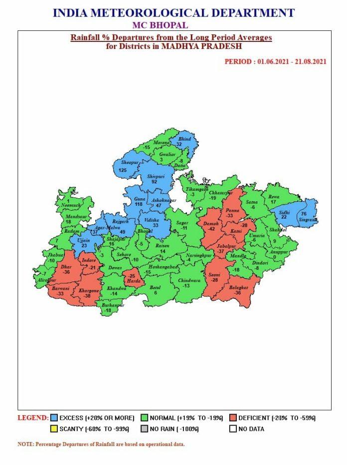 MP Weather: मप्र के इन जिलों में अति भारी बारिश की चेतावनी, जानें अपने जिले का हाल