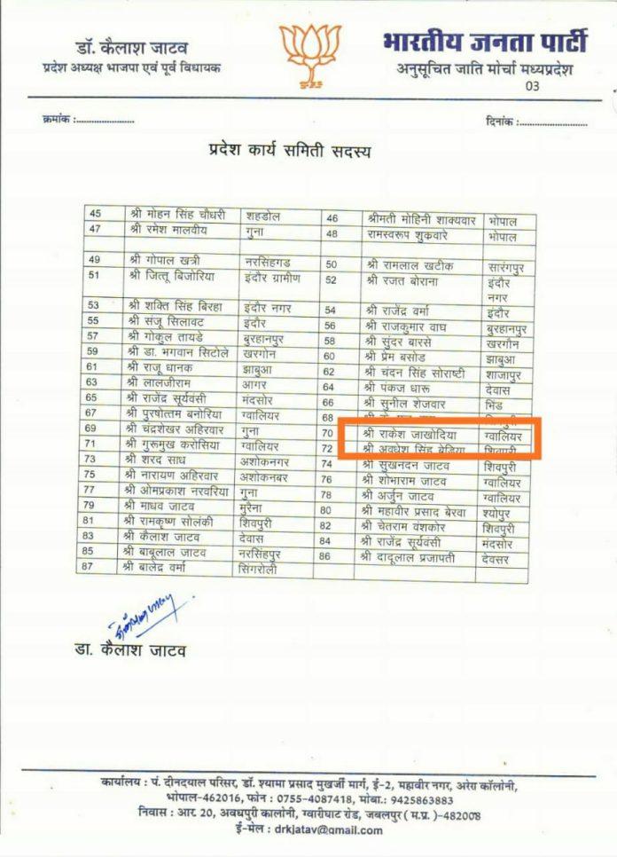 जेल में बंद हत्या का आरोपी बना BJP एससी मोर्चा की कार्यसमिति का सदस्य