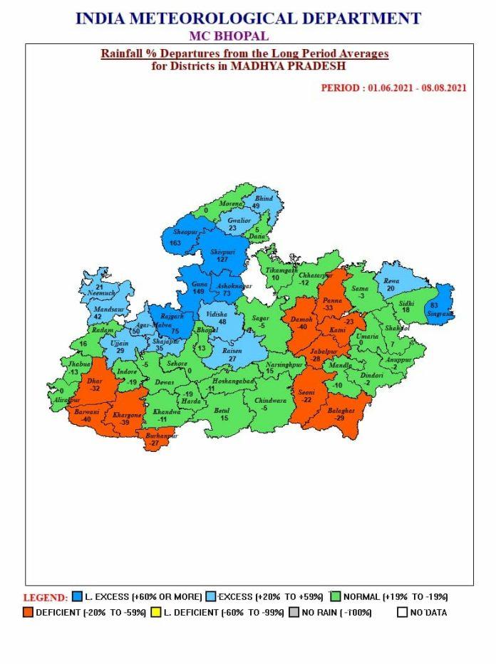 MP Weather: मप्र के 19 जिलों में भारी बारिश की चेतावनी, जानें अपने जिले का हाल