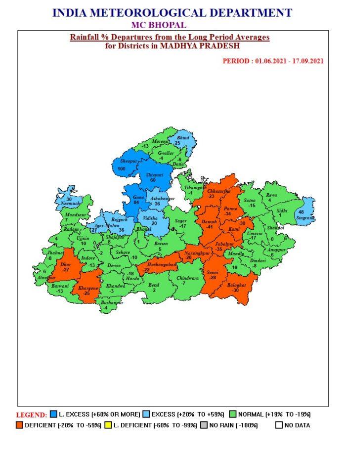 MP Weather : मप्र के इन जिलों में भारी बारिश की चेतावनी, मौसम विभाग का अलर्ट