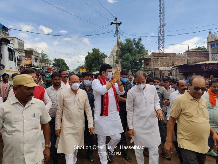 मंत्री गोविंद सिंह राजपूत ने किया उप तहसील भवन का भूमिपूजन, अपनों के बीच जाकर हुए भावुक