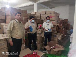 खाद्य एवं औषधि विभाग की छापामार कार्रवाई, 1 करोड़ से ज्यादा की चायपत्ती सहित अन्य माल जब्त