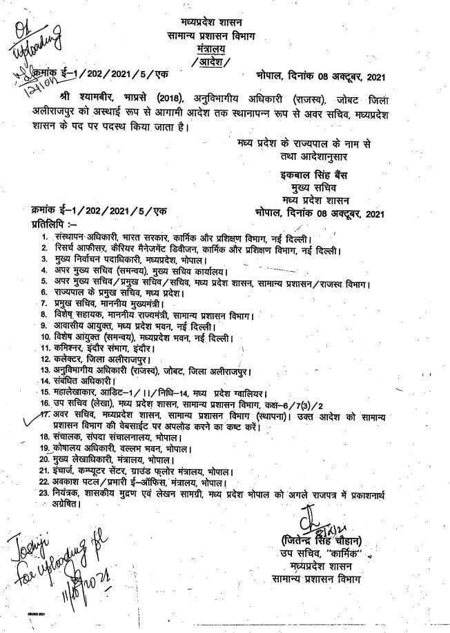 Transfer: MP में हुए IAS अधिकारियों के तबादले, यहां देखें लिस्ट