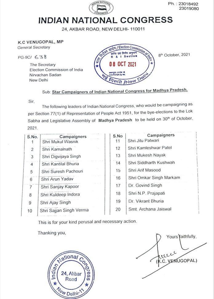 MP By-election: 24 घंटे में बदली कांग्रेस स्टार प्रचारक लिस्ट, NP प्रजापति बाहर, BJP ने घेरा