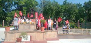 लखीमपुर खीरी की घटना के विरोध में संयुक्त किसान मोर्चे ने किया कलेक्ट्रेट का घेराव